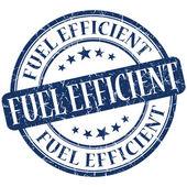 Fuel efficient grunge blue round stamp — Stock Photo