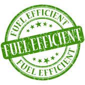 Fuel efficient grunge green round stamp — Stock Photo