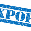 Export blue grunge stamp — Stock Photo