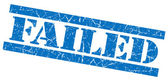 Failed blue grunge stamp — Stock Photo
