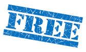 Free blue grunge stamp — Stock Photo