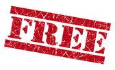 Free red grunge stamp — Stock Photo