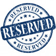 Resereved grunge blue round stamp — Foto Stock