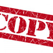 Stock Photo: Copy red grunge stamp