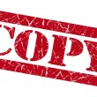 Copy red grunge stamp — Foto Stock