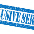 Exclusive service blue grunge stamp — Stock Photo