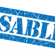 Disabled blue grunge stamp — Stock Photo #34815891