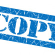 Copy blue grunge stamp — Stock Photo #34815957