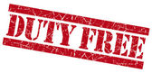 Duty free red grunge stamp — Stock Photo