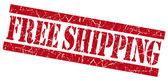 Free shipping red grunge stamp — Stock Photo