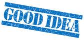Good idea blue grunge stamp — Stock Photo