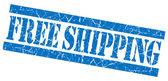 Free shipping blue grunge stamp — Stock Photo