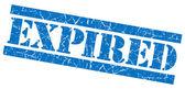 Expired blue grunge stamp — Stock Photo