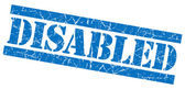 Disabled blue grunge stamp — Stock Photo