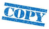Copy blue grunge stamp — Stock Photo
