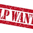 Help wanted grunge red stamp — Stock Photo #35003381