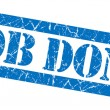 Job done grunge blue stamp — Stock Photo