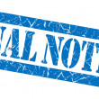 Final notice grunge blue stamp — Stock Photo