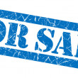 For sale grunge blue stamp — Stock Photo #35005589