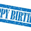 Stock Photo: Happy birthday grunge blue stamp