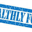 Stock Photo: Healthly food grunge blue stamp