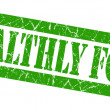 Stock Photo: Healthly food grunge green stamp