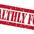 Stock Photo: Healthly food grunge red stamp