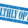Stock Photo: Healthly option grunge blue stamp
