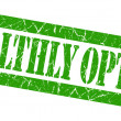 Healthly option grunge green stamp — Stock Photo
