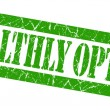 Stock Photo: Healthly option grunge green stamp