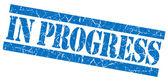 In progress grunge blue stamp — Stock Photo