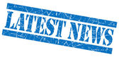 Latest news grunge blue stamp — Stock Photo