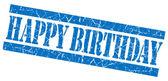 Alles Gute zum Geburtstag Grunge blau Briefmarke — Stockfoto