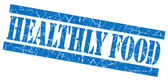 Healthly food grunge blue stamp — Stock Photo