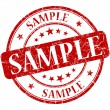Sample grunge red round stamp — Foto de Stock
