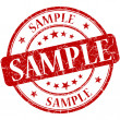 Sample grunge red round stamp — Stockfoto