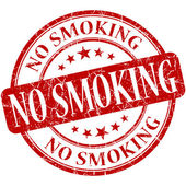 No smoking grunge red round stamp — Stock Photo