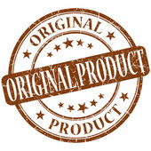 Original product grunge brown round stamp — Foto Stock