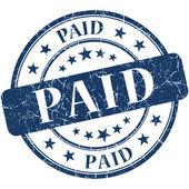 Paid grunge blue round stamp — Stock Photo