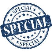 Azul especial grunge ronda sello — Foto de Stock