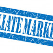 Affiliate marketing grunge blue stamp — Stock Photo