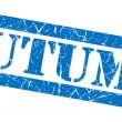Stock Photo: Autumn grunge blue stamp