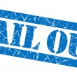 Bail out grunge blue stamp — Stock Photo