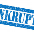 Stock Photo: Bankruptcy grunge blue stamp