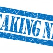 Breaking news grunge blue stamp — Stock Photo
