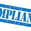 Stock Photo: Compliance grunge blue stamp