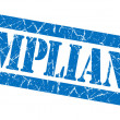 Compliance grunge blue stamp — Stock Photo