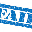 Fail grunge blue stamp — Stock Photo