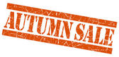 Autumn sale grunge orange stamp — Foto Stock