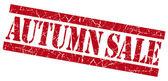 Autumn sale grunge red stamp — Stock Photo